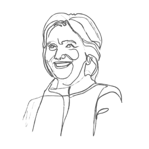 Illustration of Hillary Clinton: an example for an Enneagram Type 1 personality