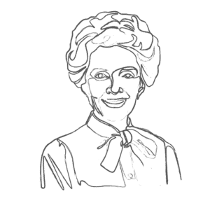 Illustration of Nancy Reagan: an example for an Enneagram Type 2 personality