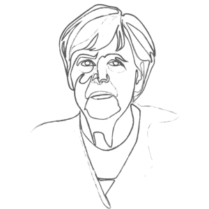 Illustration of Angela Merkel: an example for an Enneagram Type 5 personality