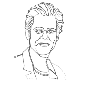 Illustration of Jim Carrey: an example for an Enneagram Type 7 personality