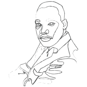 Illustration of Martin Luther King Jr.: an example for an Enneagram Type 8 personality